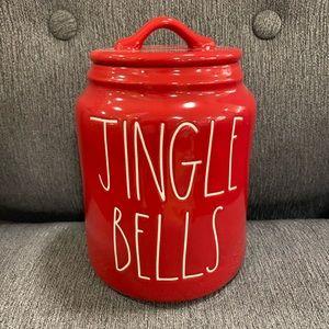 rae dunn jingle bell canister
